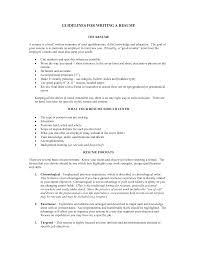 guidelines for writing a resume template guidelines for writing a resume