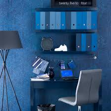 midnight blue home office home office storage idea shelving image housetohome blue home offices