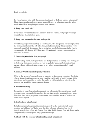 cover letter template by email cover letter examples sample cover letters and emails resumemaker com