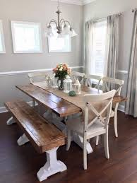 table bench chairs wall