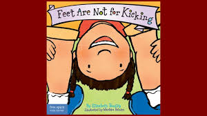 home finding children s books in the occc library libguides at book cover for feet are not for kicking