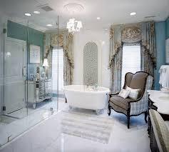 traditional style antique white bathroom: vintage interior bathroom design white flooring white bathroom fixture antique bathroom chair vintage bathroom curtains