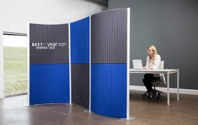 mobile room dividers office modern room dividers and partitions for lofts offices introducing flex feng shui blue curved office desk dividers