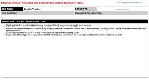 teacher job titleenglish teacher job description