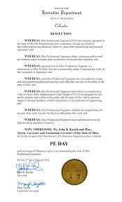 ospe home this resolution recognizing ospe as the organization celebrates the inaugural professional engineers day or pe day this wednesday 3 2016