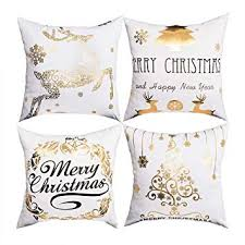 BLEUM CADE Christmas Bronzing Pillow Cover ... - Amazon.com