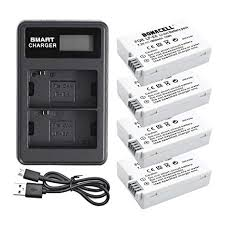 Bonacell LP-E8 Replacement Battery(4 Pack) and ... - Amazon.com