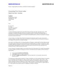 consultant cover letter template consultant cover letter
