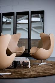 leather egg chairs arne jacobsen egg chair leather black