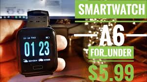 <b>A6</b> Sports <b>SmartWatch ip67</b> for Android / iOS app Unboxing & Review