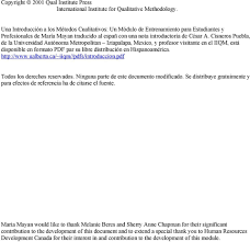 una introducciÓn a cualitativos los mÉtodos mÓdulo de cisneros puebla de la universidad autónoma metropolitan iztapalapa y profesor ante en