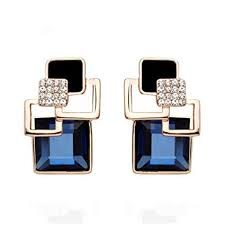 Wenini Crystal Geometric Earrings, Large Vintage ... - Amazon.com