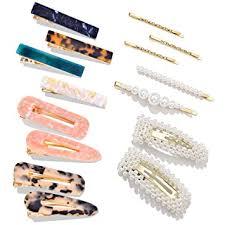 15 PCS Pearls <b>Hair</b> Clips-Cehomi Fashion <b>Korean</b> Style <b>Acrylic</b> ...