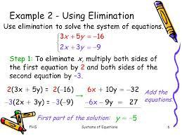 Using Elimination To Solve Systems Of Equations - Tessshebaylo