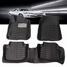 3PCs/Set Car Floor <b>Foot Pad Front</b> & Rear Liner Waterproof Mat ...