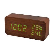 <b>Perfeo</b> LED <b>часы</b>-будильник «<b>Wood</b>» <b>время</b>, температура ...