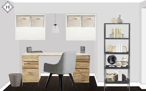 havenly rendering of a chicago home office chicago home office