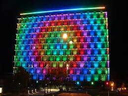 23 building facade lighting