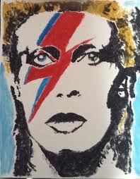 Etsy Art David Bowie Aladdin Sane Acrylic On Canvas Abstract Pop Art