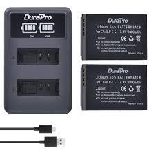 <b>2pcs 1800mAh</b> LP E12 LPE12 LP E12 Batteries + LED USB Dual ...