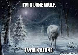 i'm a lone wolf. via Relatably.com
