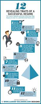 revealing traits of a successful resume job search infographics 12 revealing traits ofa successful resume