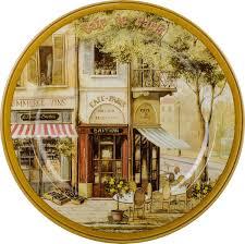 "<b>Поднос Gift</b>'n'<b>Home</b> ""Парижское кафе"", диаметр 25 см — купить в ..."