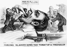 the struggle in black and white activist photographers who fought this political cartoon from 1854 expresses the tensions between existing slave states like missouri and new