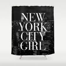 New York City Girl Black & White Skyline Vogue Typography ...