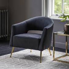 Barletta <b>Armchair Black Velvet</b> | Gallery Direct
