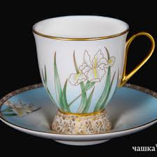 "Чайная пара - <b>чашка с блюдцем</b> ""Ирис"", <b>Hankook Prouna</b> - Ю ..."