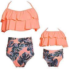 <b>Summer</b> Cute Girls Bikini Set <b>Family</b> Matching <b>Swimwear</b> Mommy ...