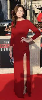 images about our favorite looks trends polos rebecca ferguson the world premiere of mission impossible rogue nation