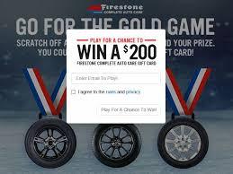 Win a $200 Firestone Complete Auto Care Gift Card