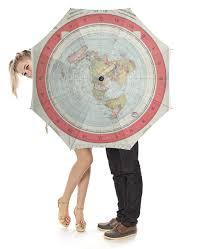 <b>Зонт</b>-<b>трость с деревянной</b> ручкой Карта Плоской Земли #2312569