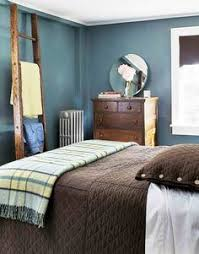 i want to use the blue and brown scheme for one of my spare rooms upstairs blue walls brown furniture