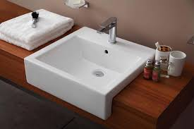 semi recessed bathroom sinks