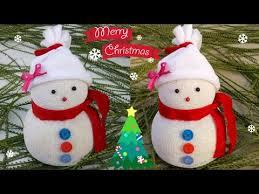 DIY <b>Snowman</b>|Making easy <b>socks snowman</b>|Christmas craft idea for ...