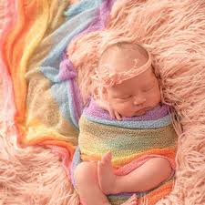<b>D&J</b> Iridescence Stretchable Xmas <b>Knitted</b> Wraps Newborn ...