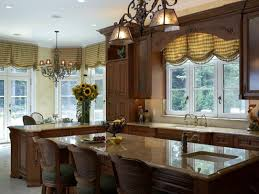 Large Kitchen Window Treatment Large Kitchen Window Treatment Ideas With Dining Table And Diy