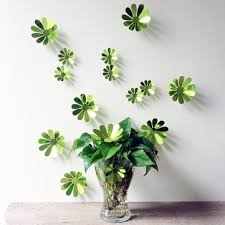 12 pcs <b>3d flower wall decal</b> vinyl arts removable wall stickers home ...