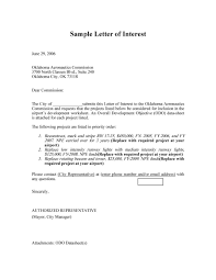 amazing letter of interest samples templates letter of interest 26