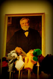 the carnegie library parkhill pride portrait of philanthropist andrew carnegie hanging in the library
