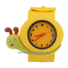 China <b>Kids Cartoon</b> Silicone Quartz Wrist Watch with <b>Snail</b>-<b>Shaped</b> ...