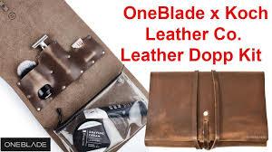 NEW: OneBlade x Koch <b>Leather</b> Co. <b>Leather</b> Dopp Kit - YouTube