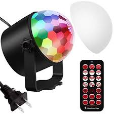 Vorally Disco Ball Party <b>Lights</b> DJ <b>Lights</b> Rotating Magic LED <b>Strobe</b> ...