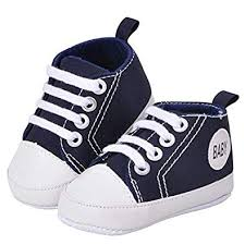 Ziory Navy Blue <b>Canvas Classic</b> Sports First Walkers Soft Sole Anti ...