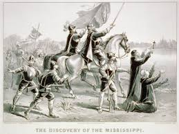 「1541 hernando de soto first reached to the mississippi river as european」の画像検索結果