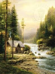 <b>Evening</b> in the <b>Forest</b> – Limited Edition <b>Canvas</b> | Thomas Kinkade ...