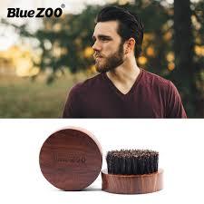 <b>Blue Zoo</b> round shape beard comb natural <b>Black gold sandalwood</b> ...